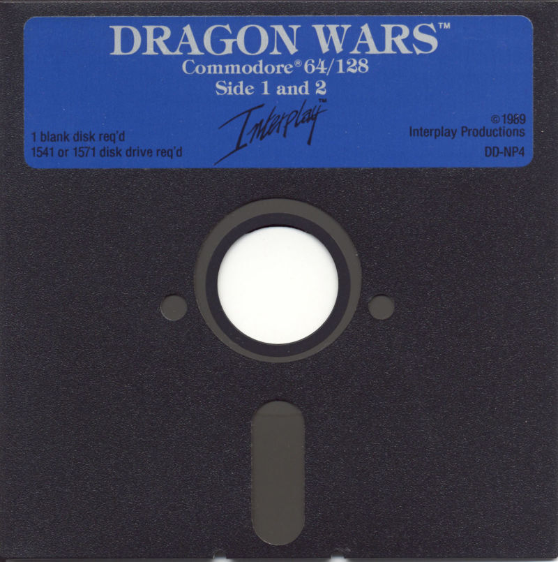 Dragon Wars Commodore 64 Media Disk 1/3