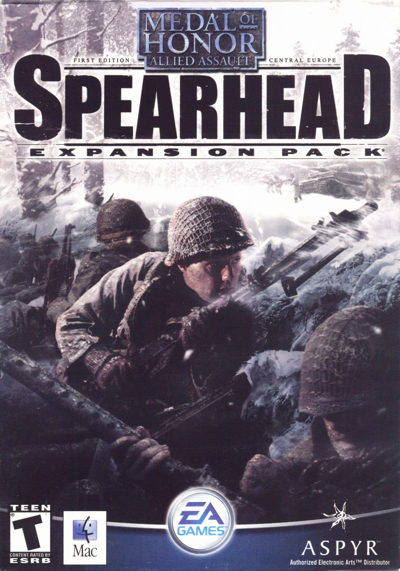 Medal of Honor: Allied Assault - Spearhead Macintosh Front Cover