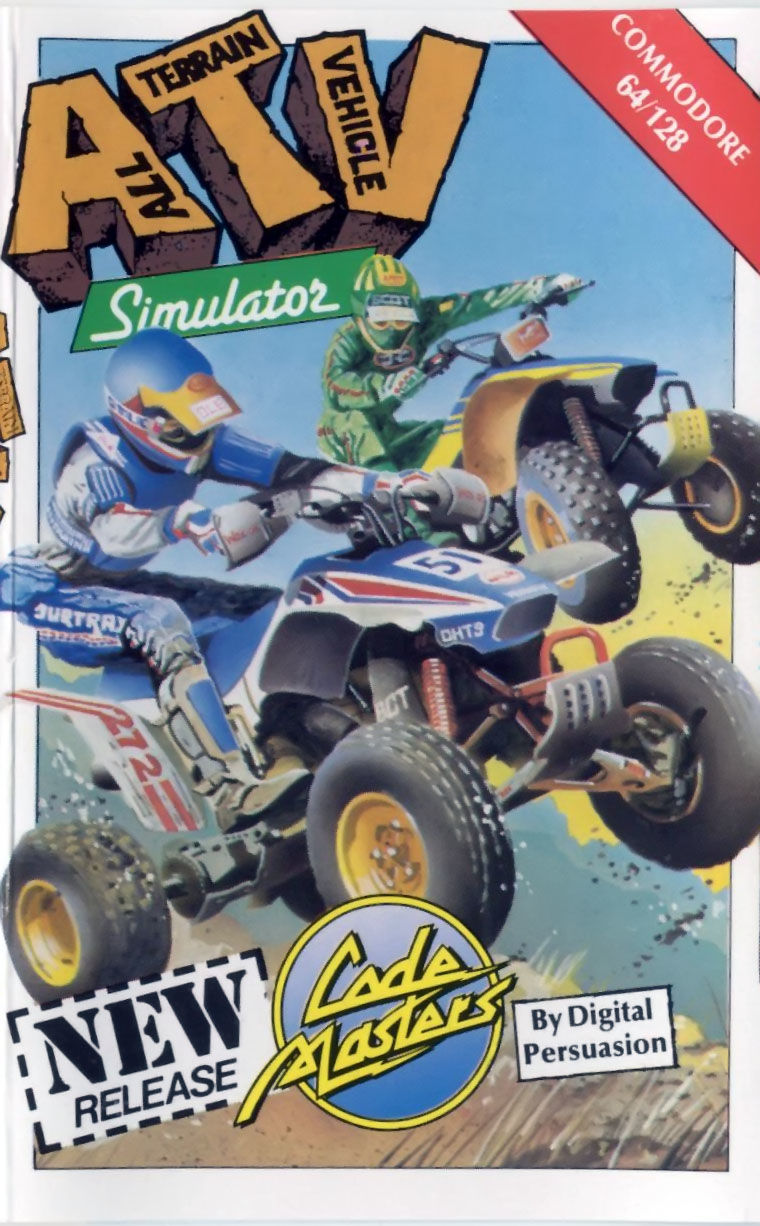 ATV Simulator Commodore 64 Front Cover