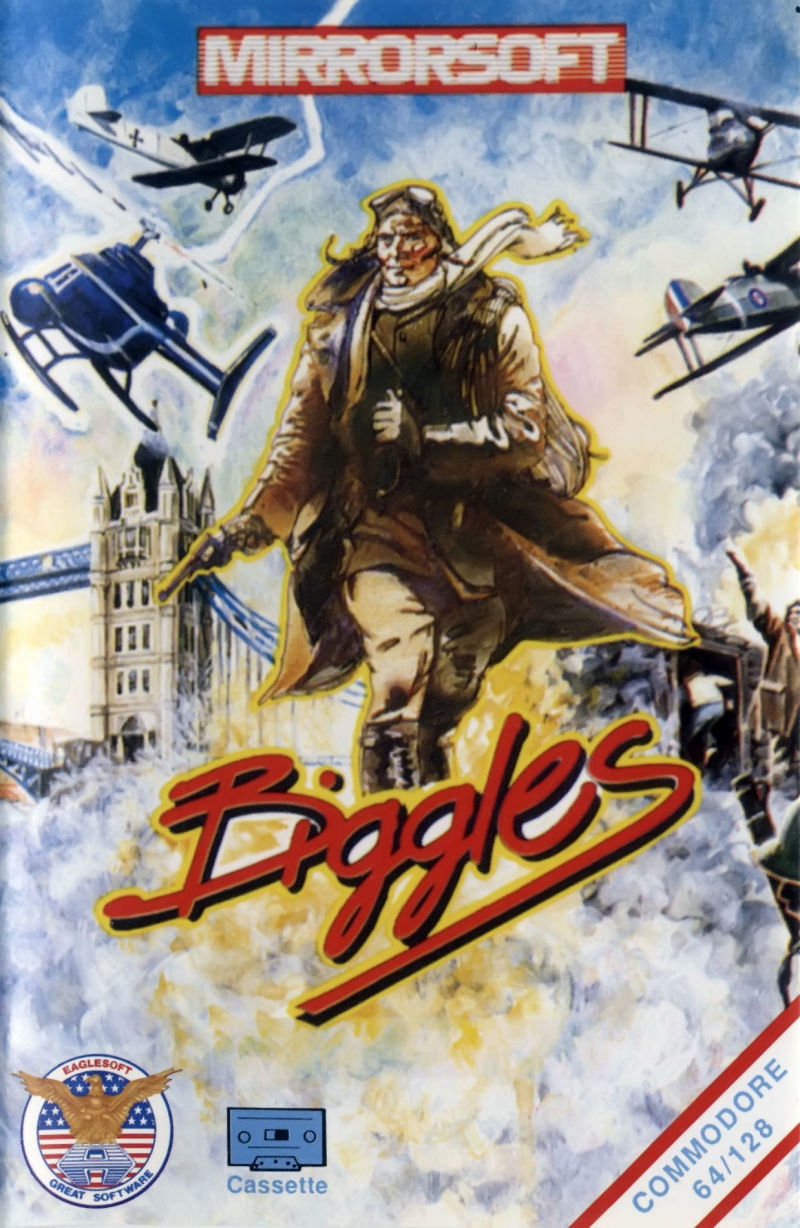 Biggles Commodore 64 Front Cover