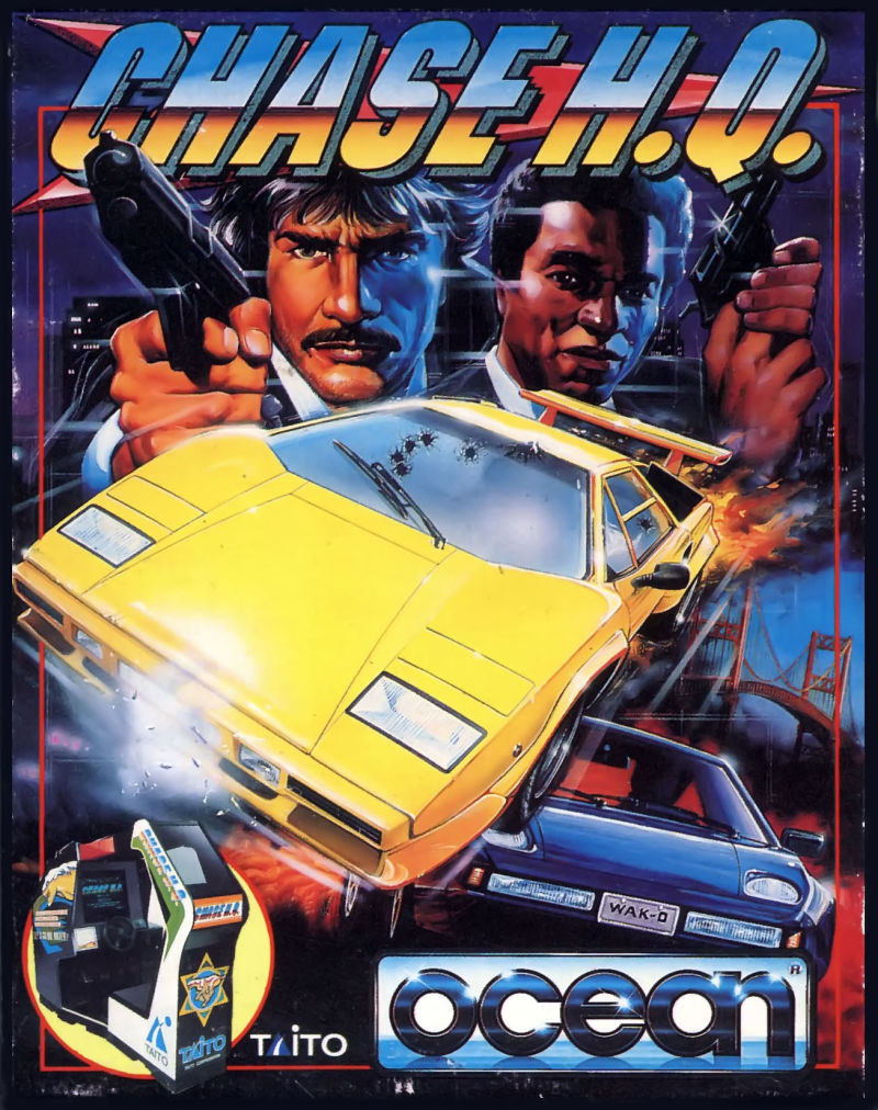 Chase H.Q. Commodore 64 Front Cover