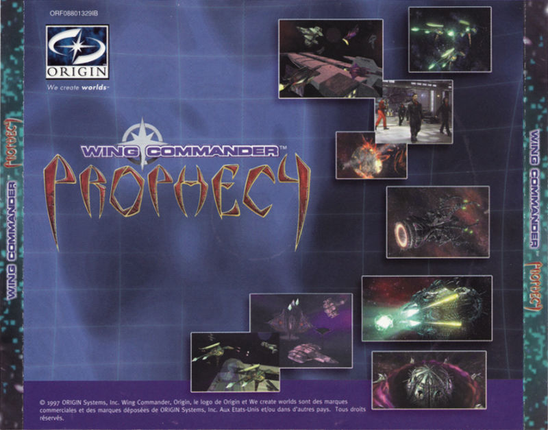 Wing Commander: Prophecy Windows Other Jewel case back cover