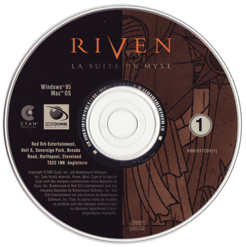 Riven: The Sequel to Myst Macintosh Media CD1