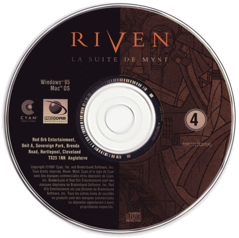 Riven: The Sequel to Myst Macintosh Media CD4
