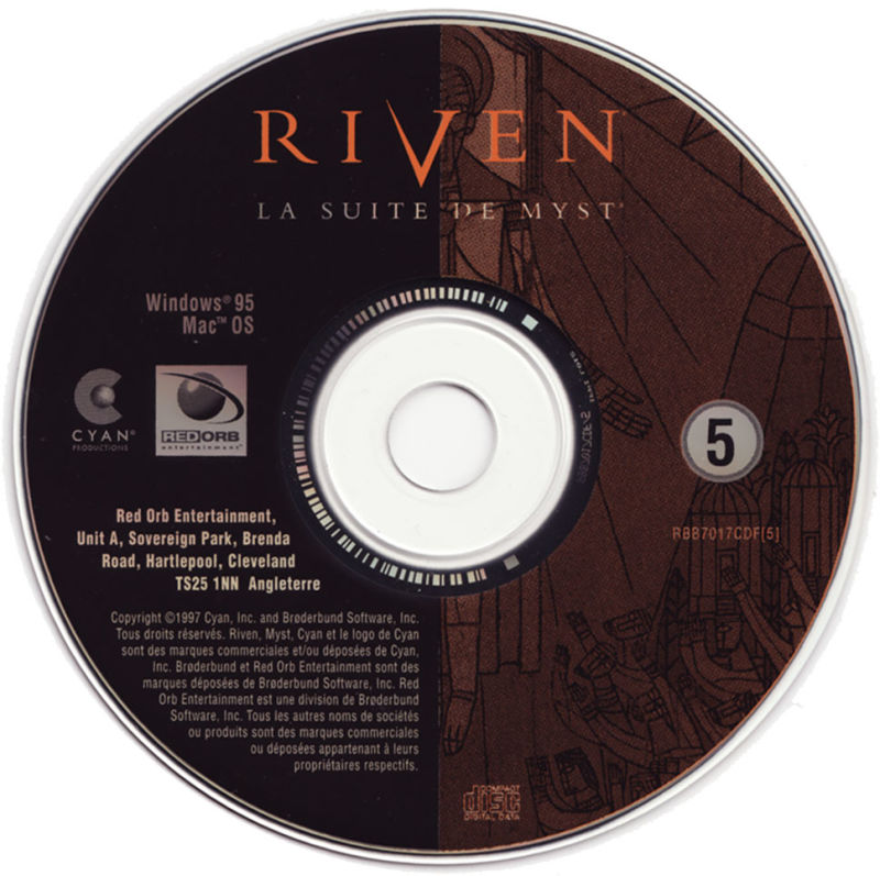 Riven: The Sequel to Myst Macintosh Media CD5