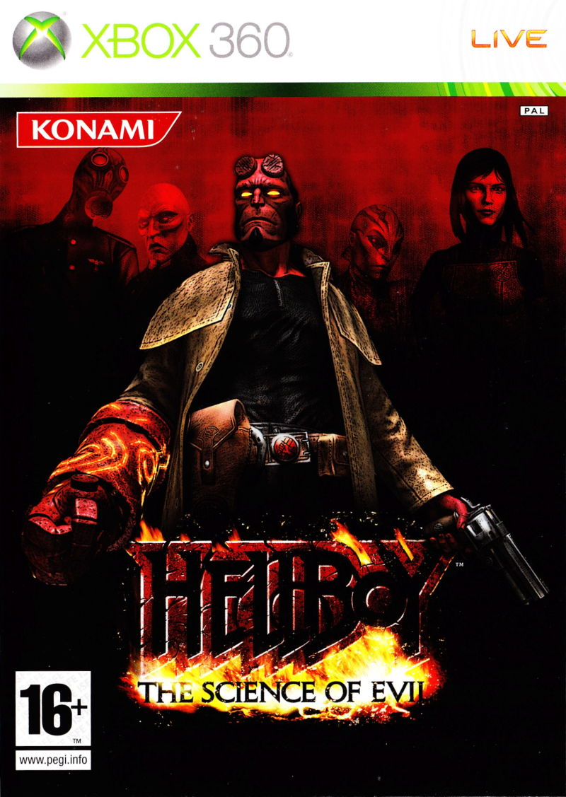 Hellboy: The Science of Evil Xbox 360 Front Cover