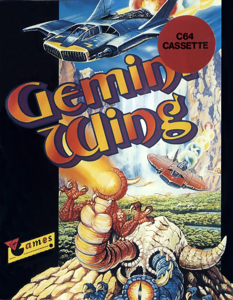 Gemini Wing Commodore 64 Front Cover