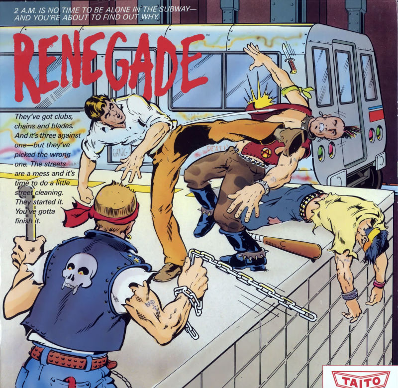 Renegade Commodore 64 Front Cover