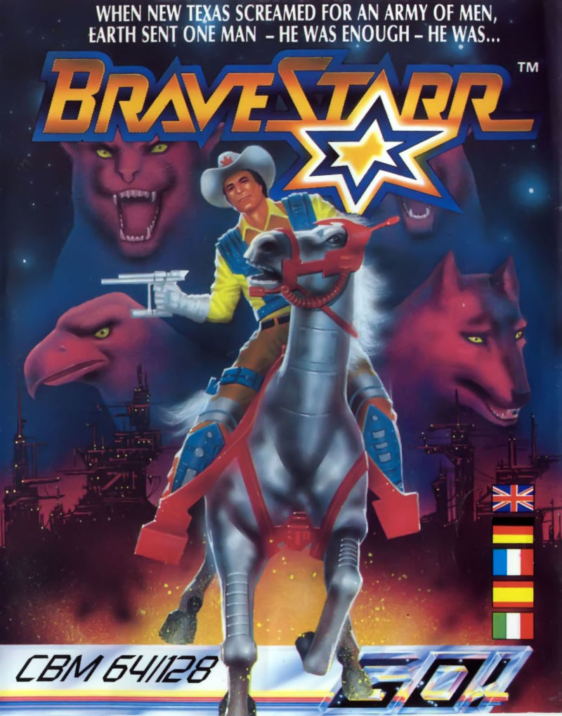 BraveStarr Commodore 64 Front Cover