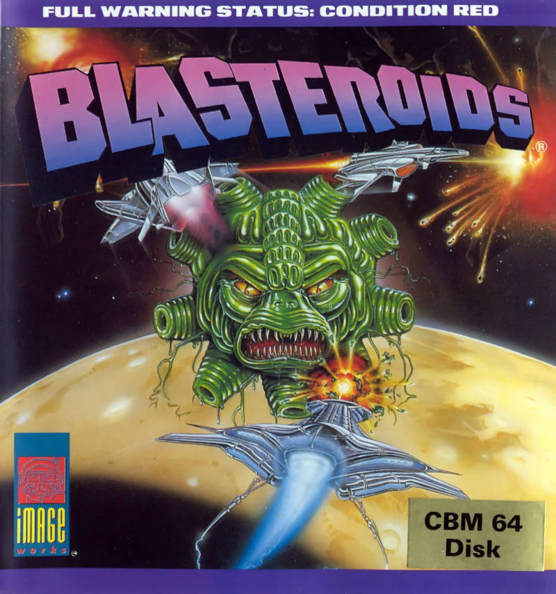 Blasteroids Commodore 64 Front Cover