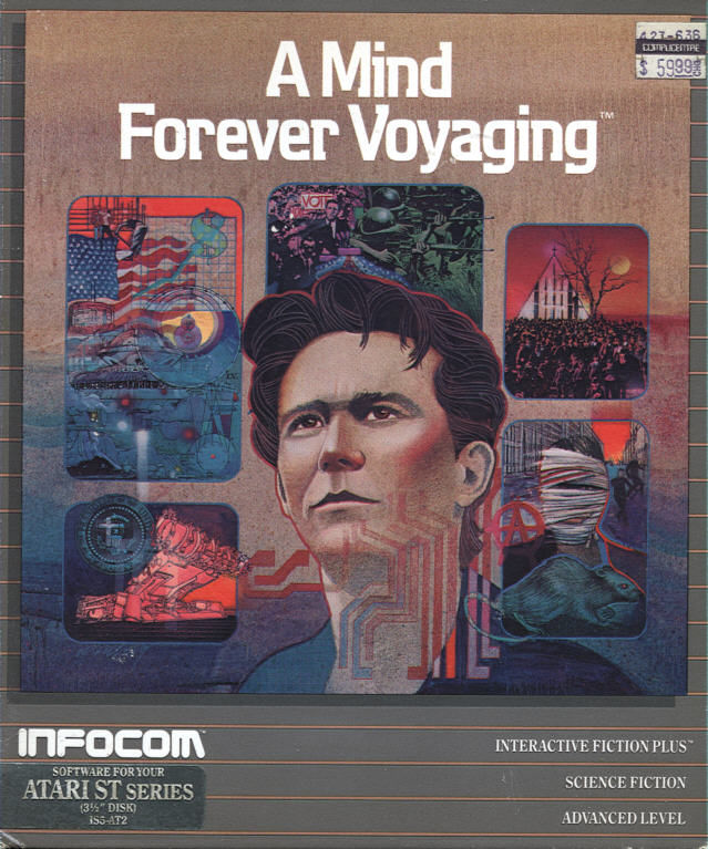 A Mind Forever Voyaging Atari ST Front Cover