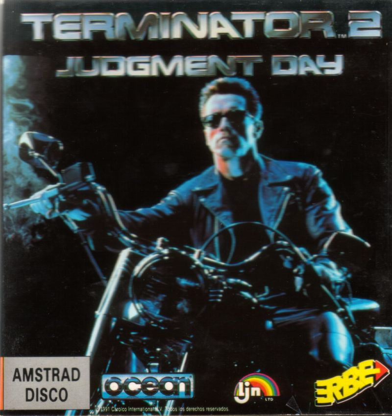 Terminator 2: Judgment Day Amstrad CPC Front Cover