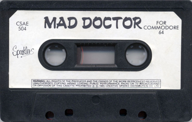 Mad Doctor Commodore 64 Media