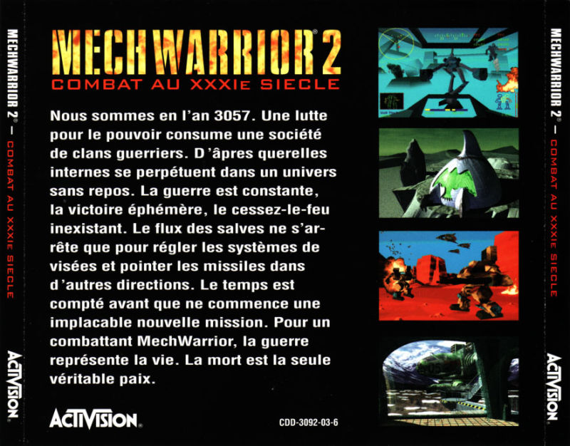 MechWarrior 2: 31st Century Combat DOS Other Jewel Case - Back