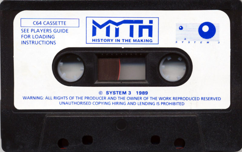 Myth: History in the Making Commodore 64 Media