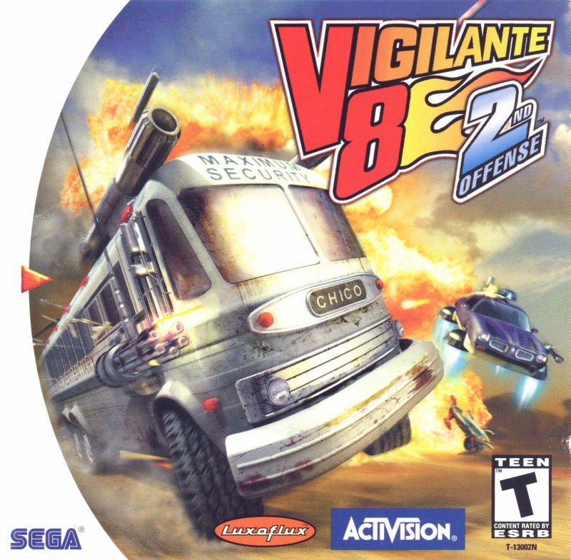 Vigilante 8: 2nd Offense Dreamcast Front Cover