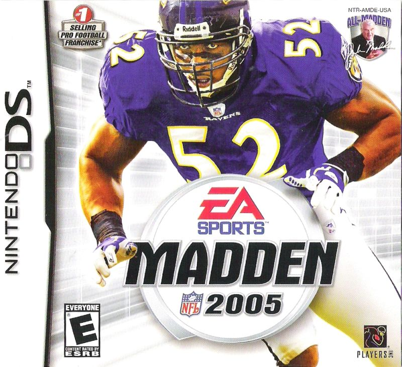 Madden NFL 2005 Nintendo DS Front Cover