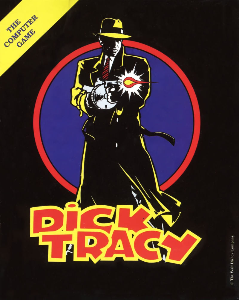 Dick Tracy Commodore 64 Front Cover