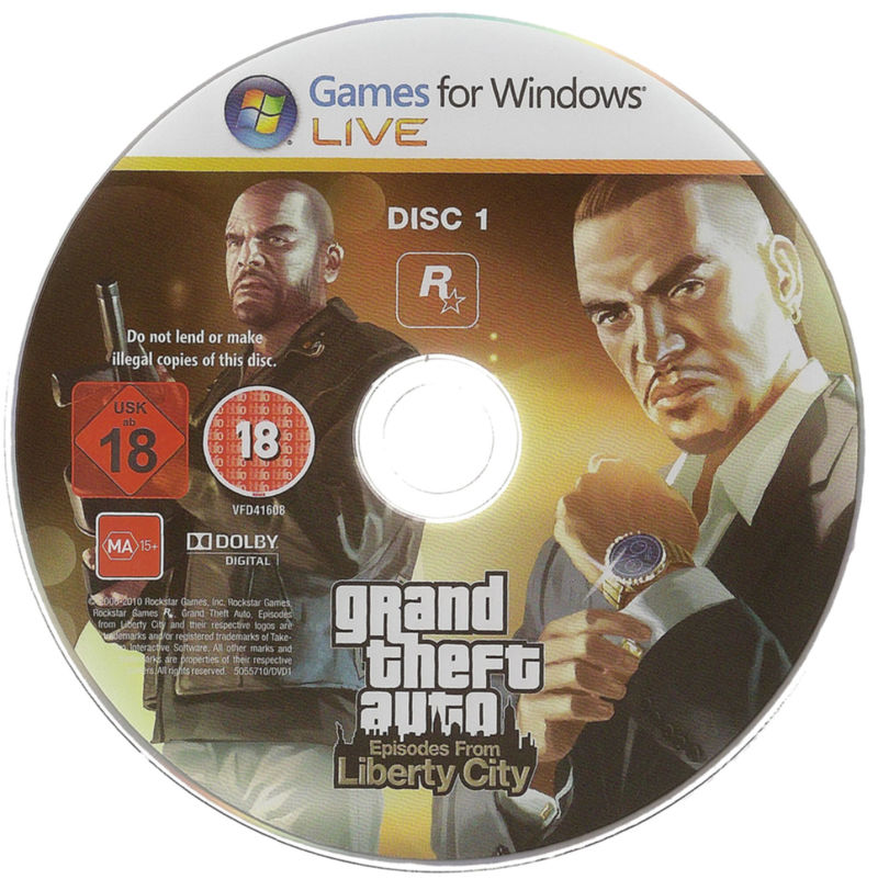 Grand Theft Auto: Episodes from Liberty City Windows Media DVD 1