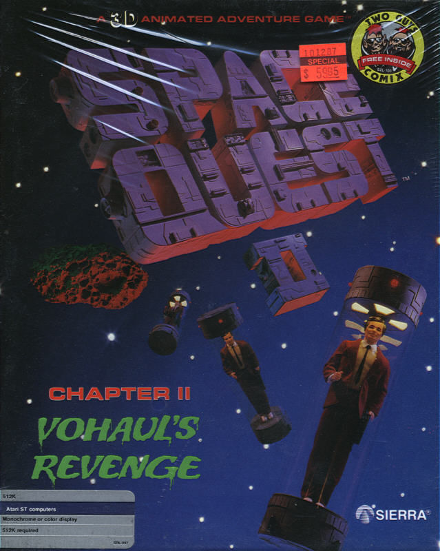 Space Quest II: Chapter II - Vohaul's Revenge Atari ST Front Cover