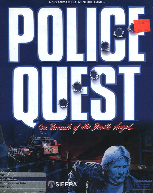 Police Quest: In Pursuit of the Death Angel Atari ST Front Cover
