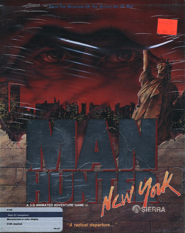 Manhunter: New York Atari ST Front Cover