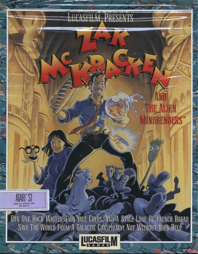 Zak McKracken and the Alien Mindbenders Atari ST Front Cover