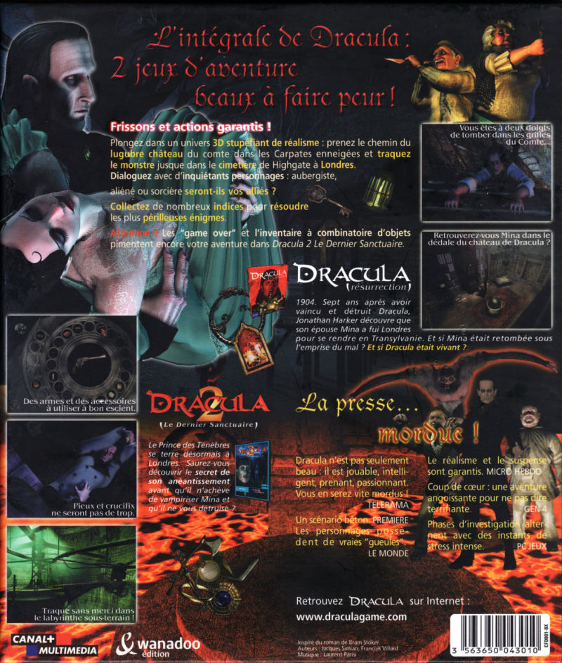 Dracula: Resurrection & Dracula: The Last Sanctuary Windows Back Cover