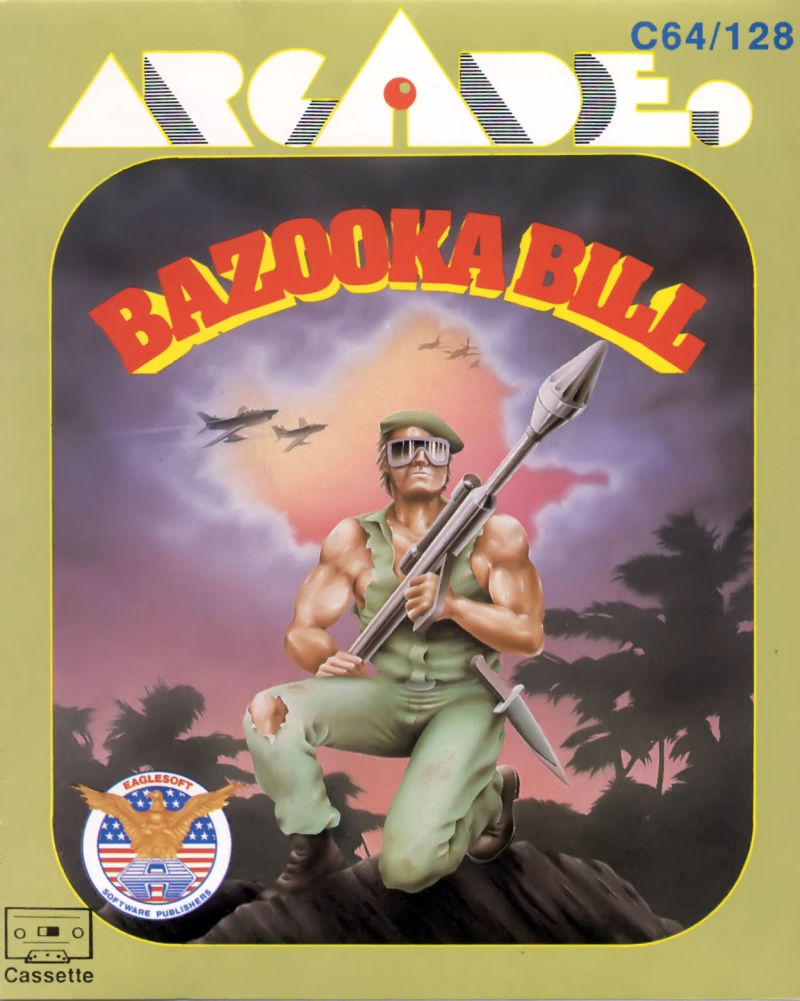Bazooka Bill Commodore 64 Front Cover