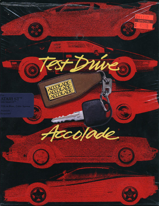 Test Drive Atari ST Front Cover