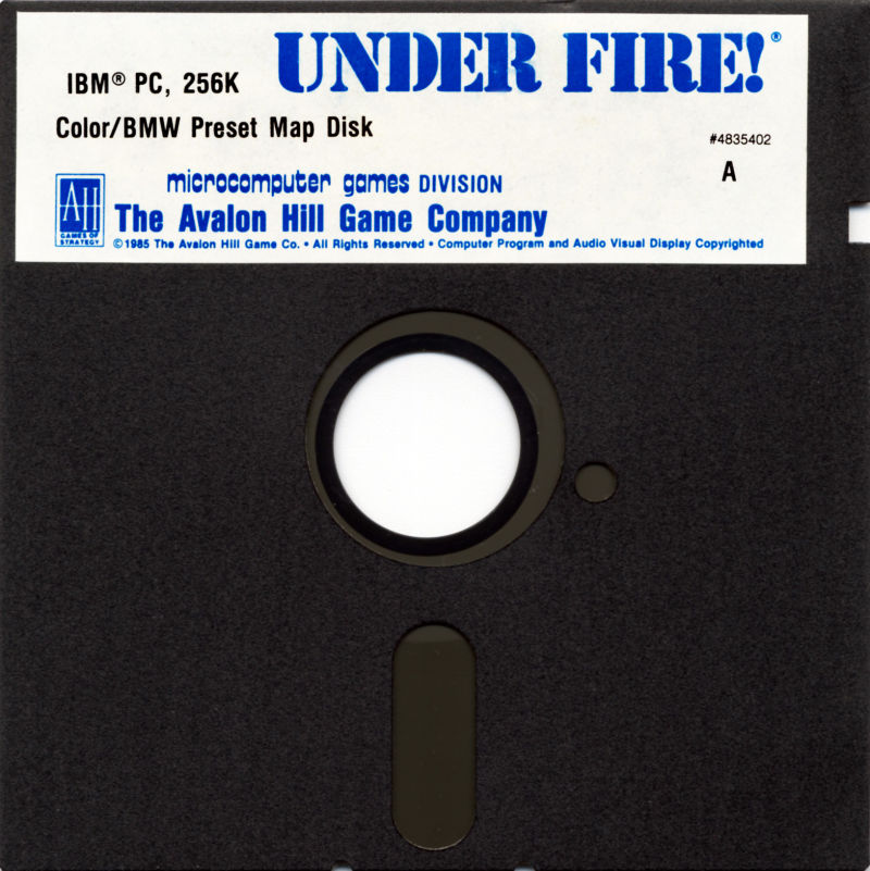 Under Fire! DOS Media Map Disk