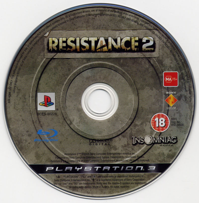 Resistance 2 PlayStation 3 Media