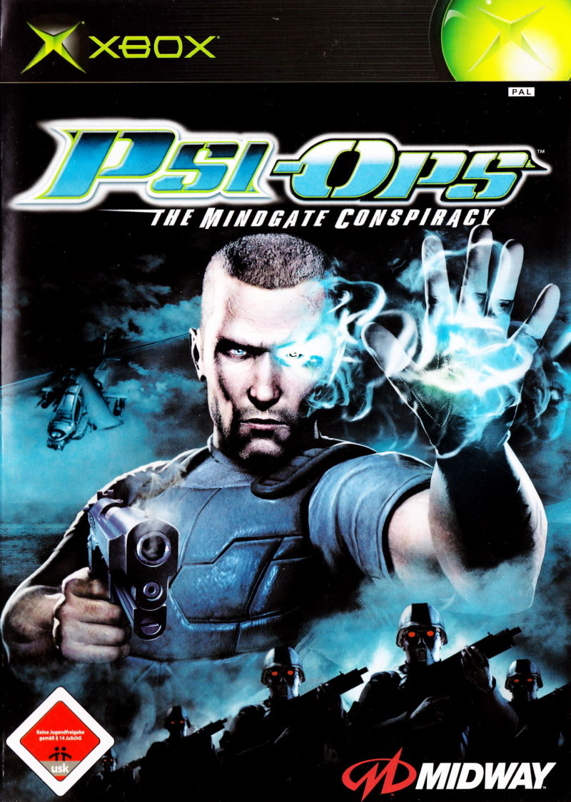 photo relating to Printable Video Game Covers identify Psi-Ops: The Mindgate Conspiracy (2004) PlayStation 2 box