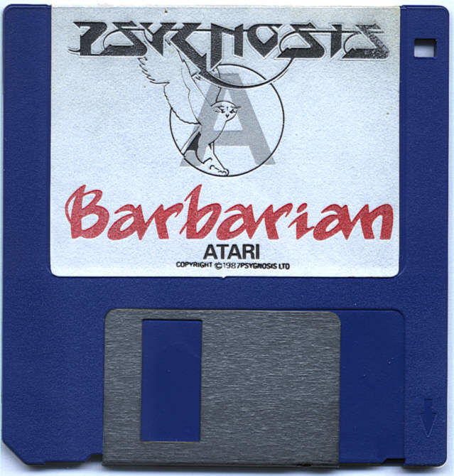 Barbarian Atari ST Media 3.5 Game Disk 1 of 2