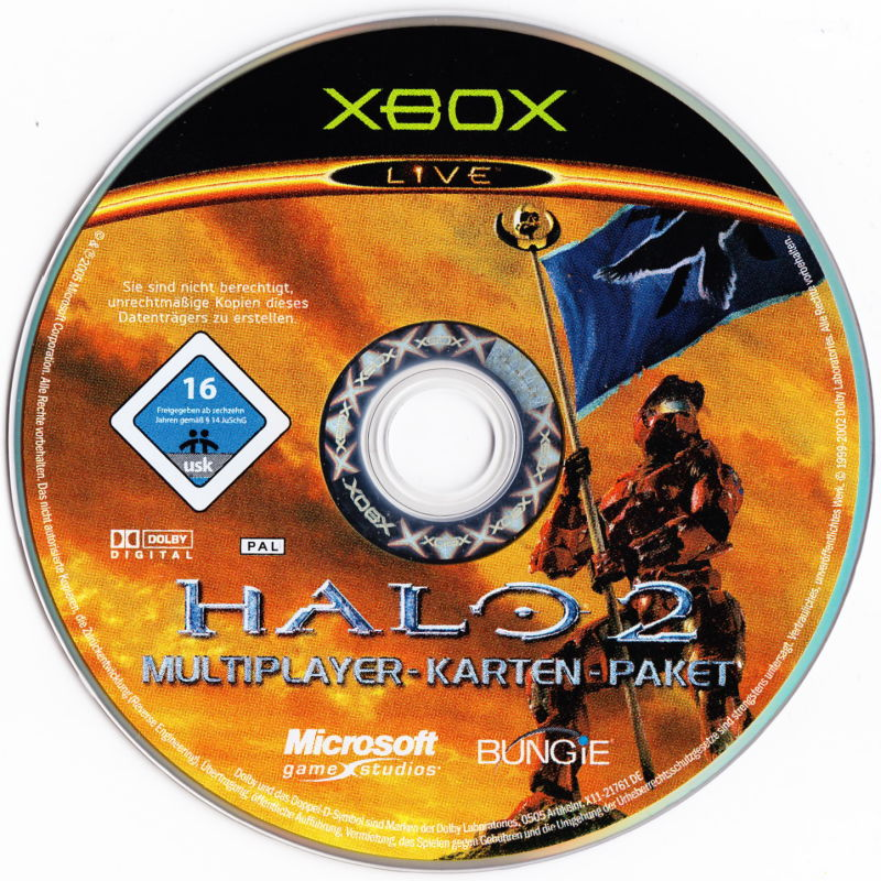 Halo 2: Multiplayer Map Pack Xbox Media