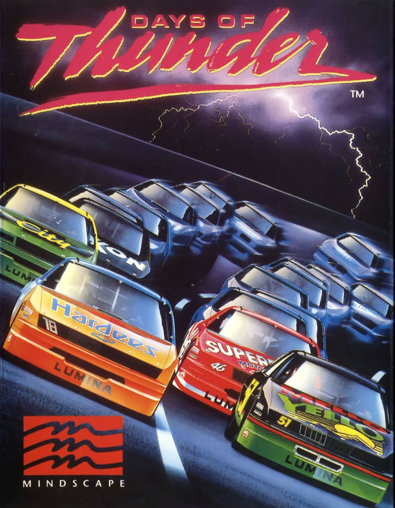Days of Thunder Commodore 64 Front Cover