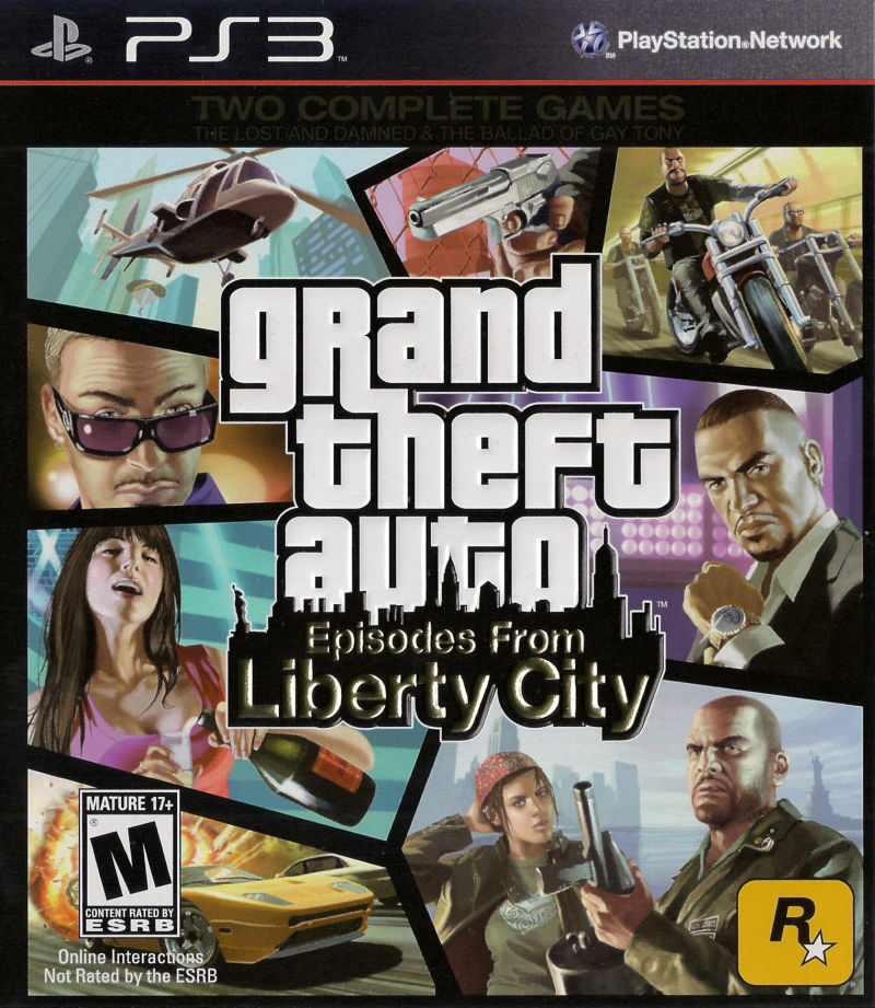 Grand Theft Auto: Episodes from Liberty City PlayStation 3 Front Cover