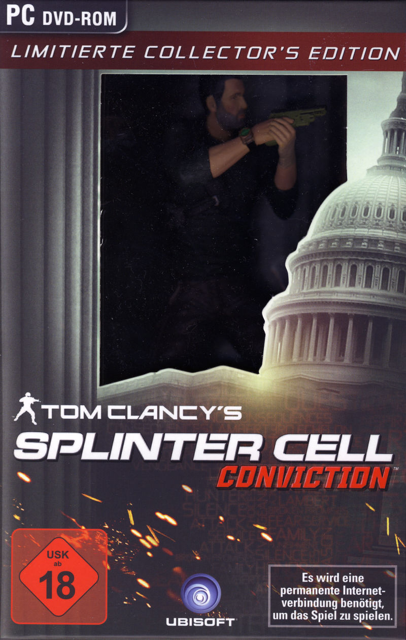 Tom Clancy's Splinter Cell: Conviction (Limited Collector's Edition) Windows Front Cover