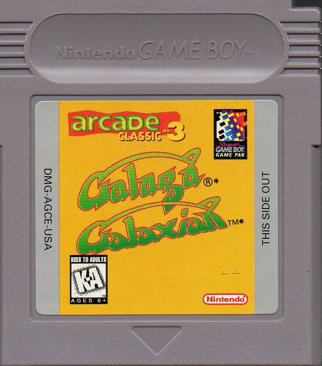Arcade Classic 3: Galaga / Galaxian Game Boy Media