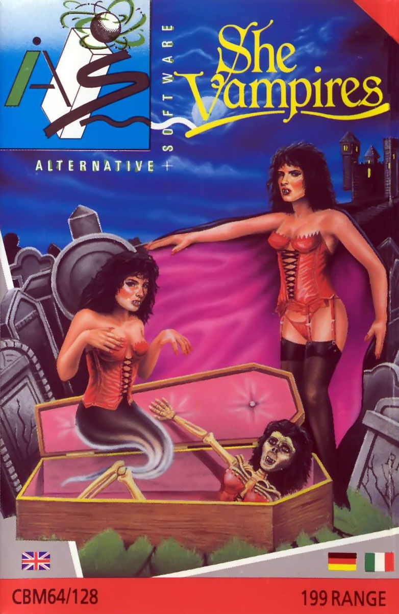 The Astonishing Adventures of Mr. Weems and the She Vampires Commodore 64 Front Cover