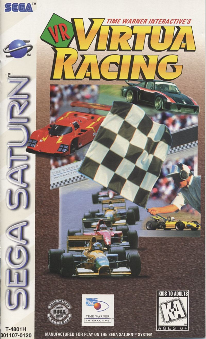 Time Warner Interactive's VR Virtua Racing SEGA Saturn Front Cover