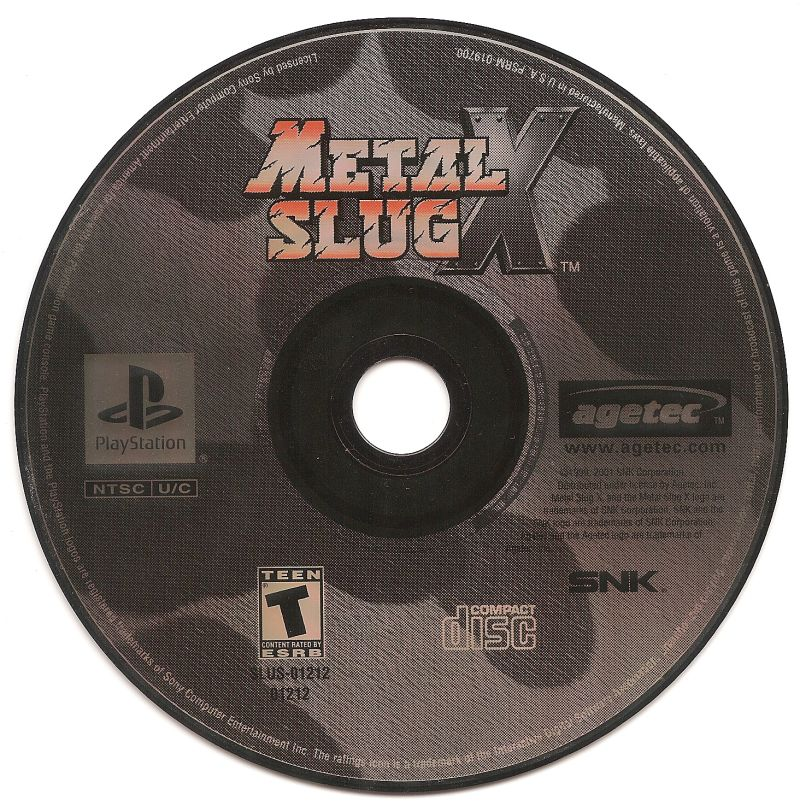 Metal Slug X PlayStation Media