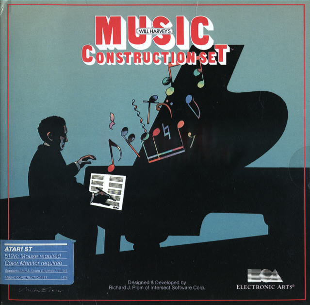 Will Harvey's Music Construction Set Atari ST Front Cover