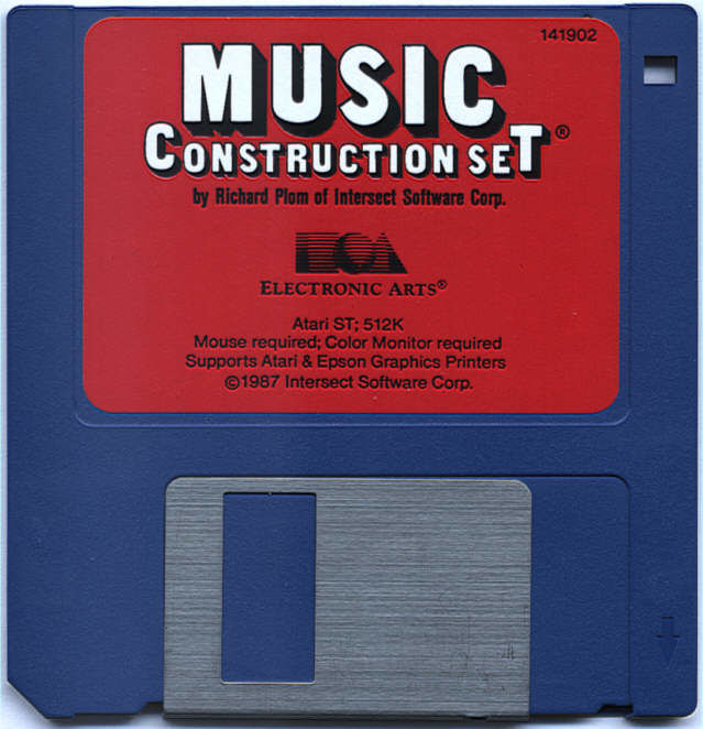 Will Harvey's Music Construction Set Atari ST Media 3.5 Disk