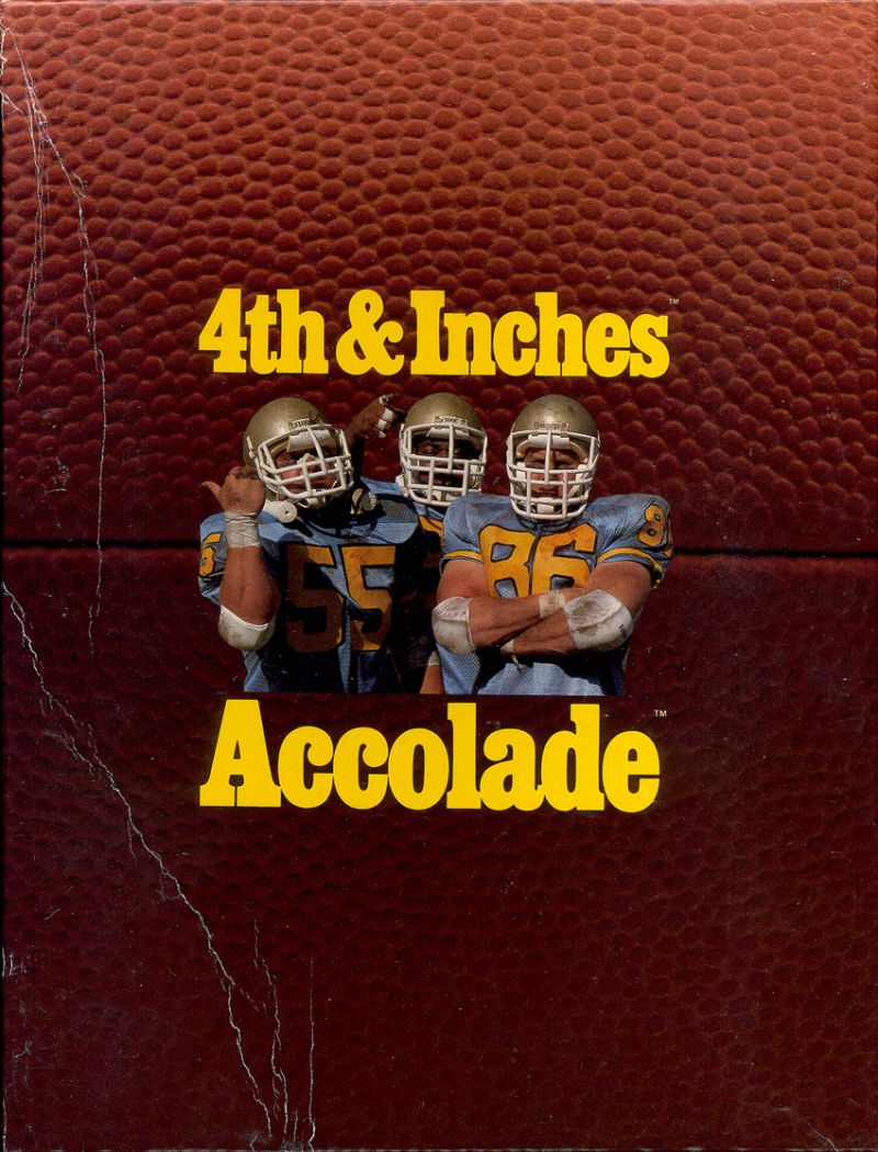 4th & Inches DOS Front Cover