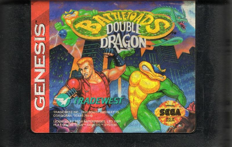 Battletoads & Double Dragon: The Ultimate Team Genesis Media