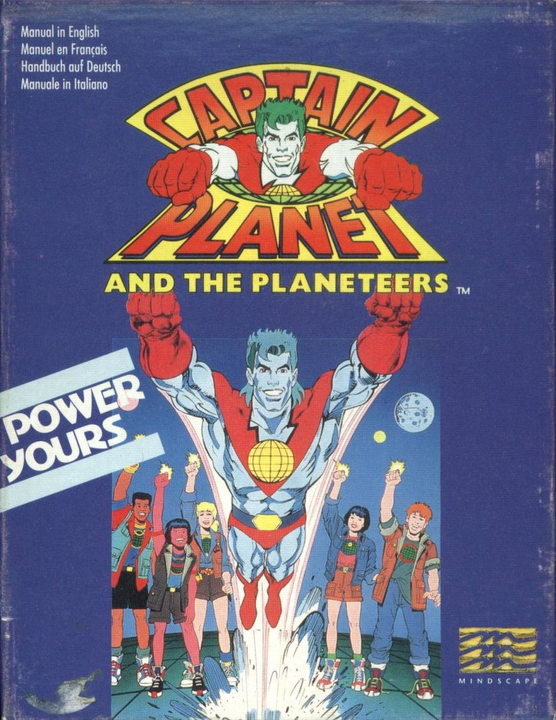 Captain Planet Amstrad CPC Front Cover
