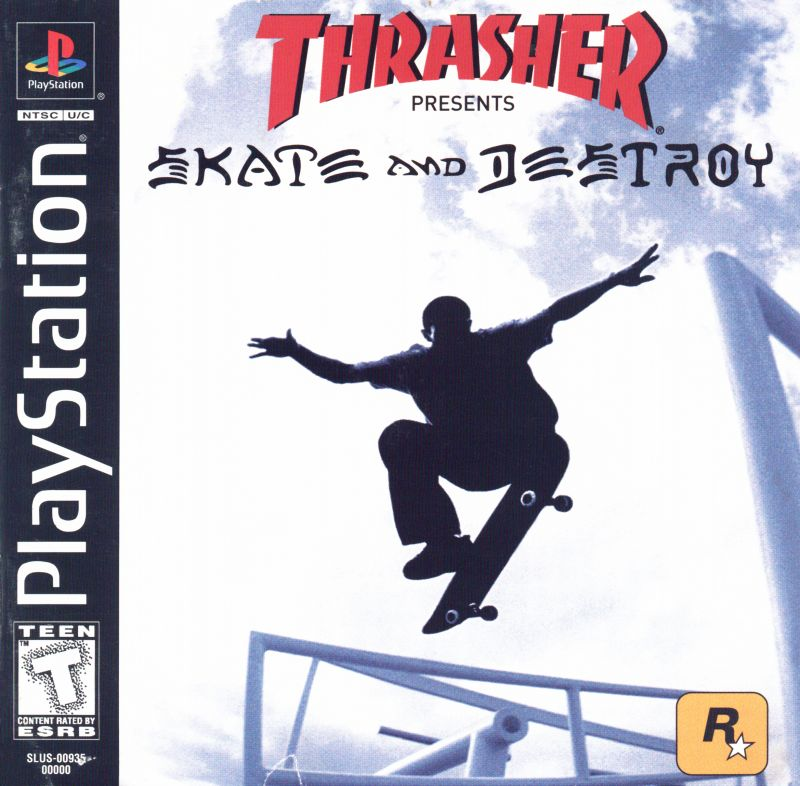 Thrasher Presents Skate and Destroy PlayStation Front Cover