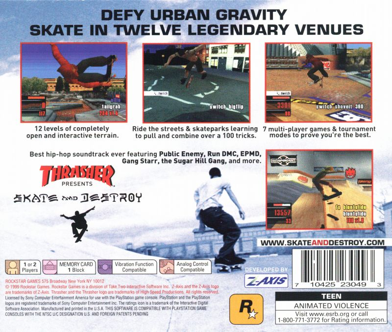 thrasher video game