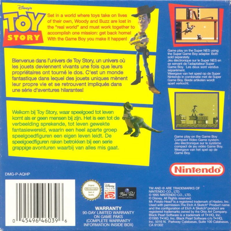 Disney's Toy Story Game Boy Back Cover